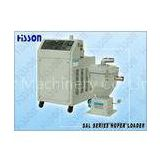 White Vacuum Auto Hopper Loader, Plastic Auxiliary Equipment For Injection Molding Machine