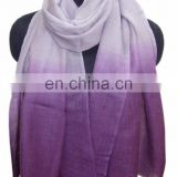 Ombre pashmina Wool in two tone colour shawls
