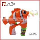Colorful fish bubble gun toy