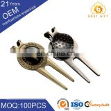 OEM factory accept custom switchblade golf pitch fork with blank golf ball marker