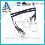 Sprial coild cord PU tool lanyard for safety tool