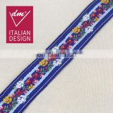 Fancy embroidery national flower pattern trim ethnic tape for cloth