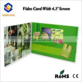 Newest products video brochure card handmade paper video card