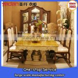contemporary best price marble top wooden dinning table for sale                                                                         Quality Choice