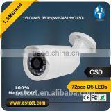 "1/3"" COMS 720P Bullet Camera 1.3 MP HD Color Bullet CCTV Camera Night Viison Security System Camera Support IP66"