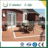 Long lifetime WPC wooden garden decking flooring