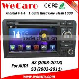 Wecaro Android 4.4.4 car entertainment system in dash for audi a3 multimedia android 1080p 2003-2013