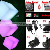"12""Solar LED light decotative cube with remote control YXF-3030S"