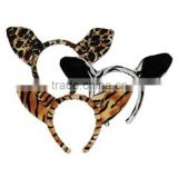 animal ear headbands/costume plush stuffed headbands