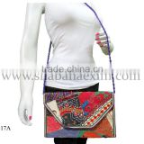 handmade designer evening clutch bags ethnic jaipuri kantha handwork purse beaded potli side bag