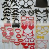 2015 New Products Funny Photo Booth Props Hat Mustache On A Stick Wedding Birthday Party Favor
