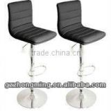 Modern Swivel Black Bar Chair/Leather Bar Stools ZM-06