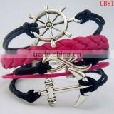 CB8171 jewelery braided leather bracelet china wholesale frienship bracelet leather