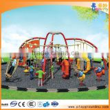 polyethylene and metal outdoor playground slide used for preschool_rubberized outdoor playground