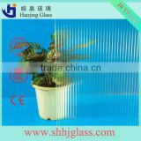 Shahe Haojing 3-6mm clear karatachi bamboo amber beehive patterned glass figured glass rolled glass