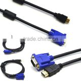 Full HD 1080 15 Pin VGA Male M/M Connector Adapter Gold Plated Converter Braided Cable for HDTV PC Laptop