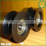 ISO standard plastic factory sale injection conveyor pulley wheels custom durable black big plastic pulley                                                                         Quality Choice