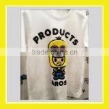 2016 Top Product Bros Bros Rinne 100% Cotton White Short Sleeve T-shirt