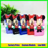 For disney minnie Silicone mobile 3d phone case for Samsung Galaxy ACE G313 cell phone cover case back cover