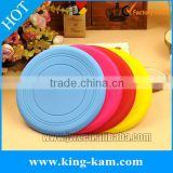 Wholesale Promotional Silicone Rubber Frisbee For Dogs customized dog frisbee