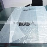 21cm side gusset big size transparent HDPE plastic recycled tyre tube bag with custom printing