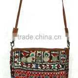 Gypsy Banjara Tribal Cross Body Bag Removal Leather Strap Bag Tribal Banjara Clutch Bag