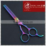 Fashional purple Titanium coated,6.0inch size hairdressing scissors,high quality hair scissors