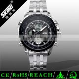 Stainless steel water proof watch with High quality Japan mov't Skmei analog digital wrist watch