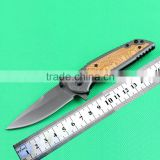 Hot selling pocket knife 440 stainless steel blade Titanium ion finished
