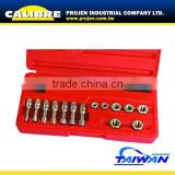 CALIBRE 15pc Tap and Die Set Metric Rethreader Set Metric Rethreader kit