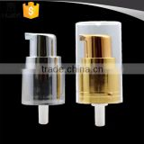 Metal gold silver lotion pump 20/410 with plastic cap                                                                         Quality Choice