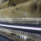 Wholesale natural Raccoon Fur Collar Coat Detachable /Scarf 80cm*17cm