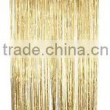 Metallic Gold Door Decoration,Metallic Foil Curtain,Tinsel Curtains Party Decoration