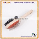 B12103 double sided factory wholesale wooden material pet brush dog comb                                                                         Quality Choice
