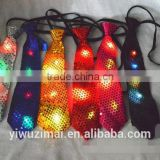 Sequins LED Necktie Light Up Neck Tie Flashing Blinking Party                                                                         Quality Choice