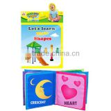 English Shapes Learning Baby Cloth Book, Education Infant Fabric Book