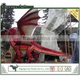 Chinese outdoor decoration fiberglass dragon statue
