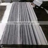 Wholesale white marble tiles, direct factory with good price for grey veins white marble
