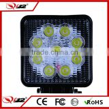 Super Bright 12V Driving Work light for agricultural,machine,boat,marine 27W LED Work Light