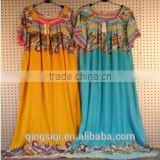 fashion short sleeve Arab lady long gown