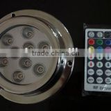 Surface Mount Marine underwater boat LED Light 9*5 W in RGB with wireless remote control