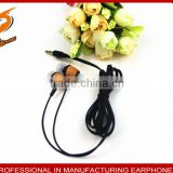 innovative high quality personalized wooden in-ear earphone for mobile/computer used