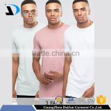 High quality Men' s 94% cotton 6% White & Pink Blank O neck elastane t shirts in bulk