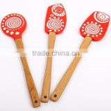Baking & Pastry Tools silicone spatula with wooden handle ,Home silicone baking brush