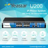 Yeastar 200 users PSTN BRI GSM UMTS VOIP IP PBX system