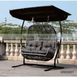 New Rattan/Wicker Double Seats Hanging Chair Outdoor Furniture