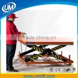 Heavy Duty Good Cylinder Big Motor 3M Hydraulic Scissor Lift Table Elevator 2 Ton With Electric Motor System