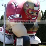 inflatable footballer, inflatable rugby player, inflatable athlete, inflatable American football sportsman