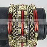 Red Resin Bangles set ,Indian Bangle Sets,Women Jewelry Fashion New Bracelet Designs Bangle Set,2016 Wholesale Brass jewelry
