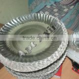 Round Silver Laminated Plain Plates Standard Paper Plate for sale